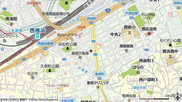 神奈川県横浜市西区浜松町2-25周辺の地図