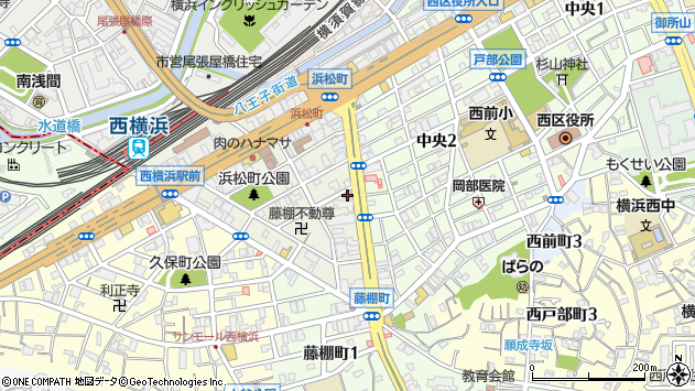 神奈川県横浜市西区浜松町2-21周辺の地図
