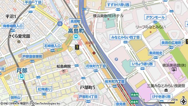 神奈川県横浜市西区桜木町7丁目周辺の地図