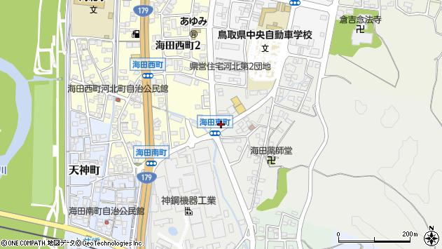 鳥取県倉吉市海田東町401周辺の地図