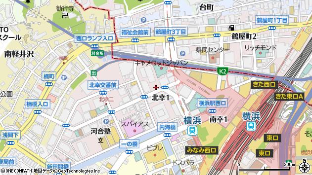 神奈川県横浜市西区北幸1丁目周辺の地図