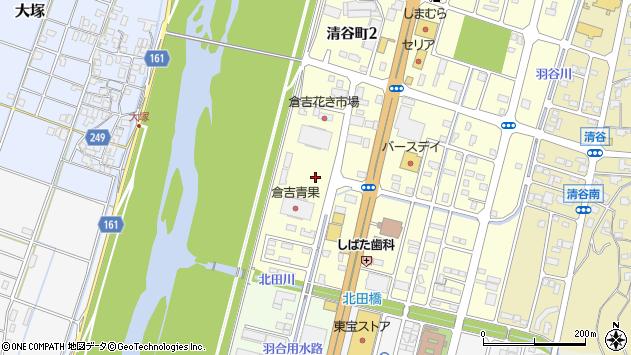 鳥取県倉吉市清谷町2丁目周辺の地図