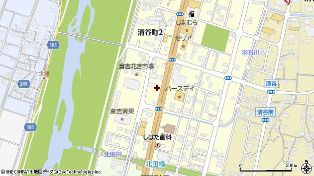 鳥取県倉吉市清谷町2丁目63周辺の地図
