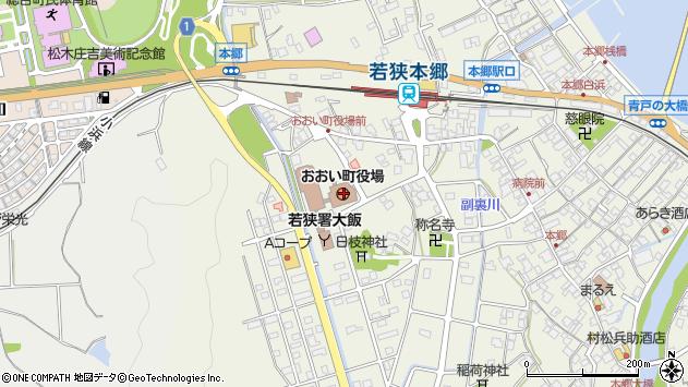 福井県大飯郡おおい町周辺の地図