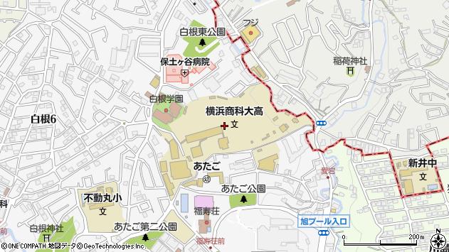 神奈川県横浜市旭区白根7丁目1周辺の地図