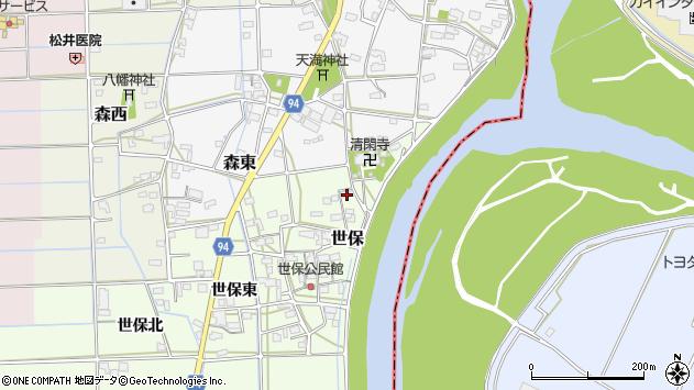 岐阜県岐阜市世保589周辺の地図