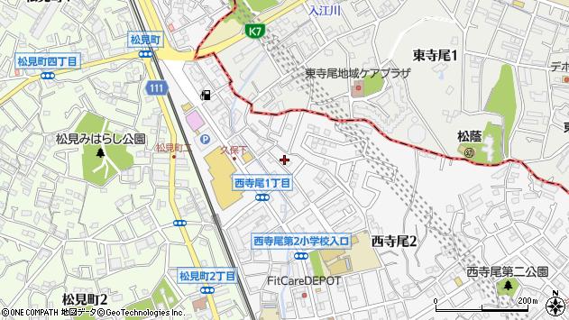 神奈川県横浜市神奈川区西寺尾1丁目周辺の地図