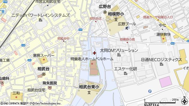 神奈川県座間市栗原周辺の地図