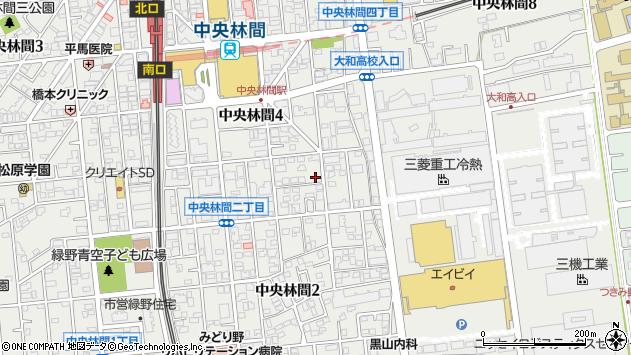 神奈川県大和市中央林間4丁目周辺の地図