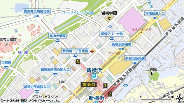 神奈川県横浜市港北区新横浜3丁目18-14周辺の地図