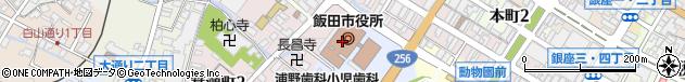 長野県飯田市周辺の地図