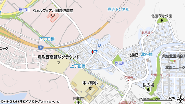 鳥取県鳥取市気高町宝木 住所一覧から地図を検索