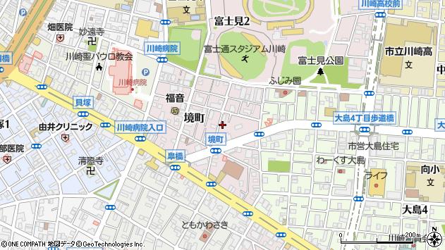神奈川県川崎市川崎区境町周辺の地図