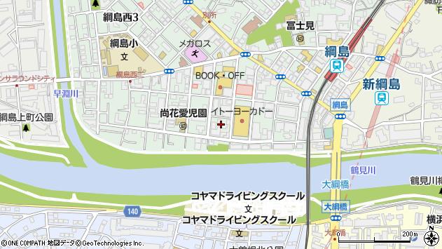 神奈川県横浜市港北区綱島西2丁目11周辺の地図