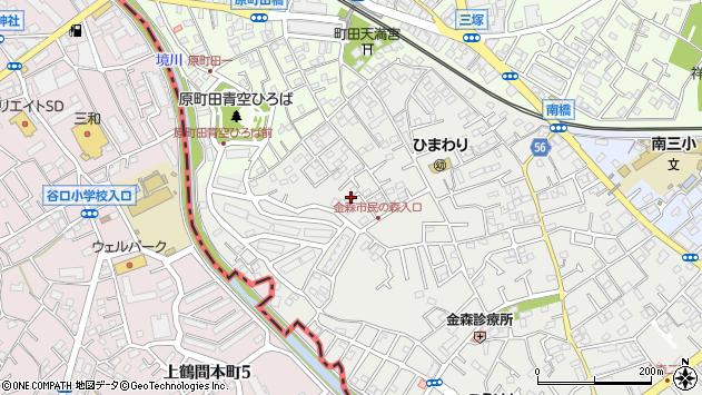 東京都町田市金森1丁目17周辺の地図