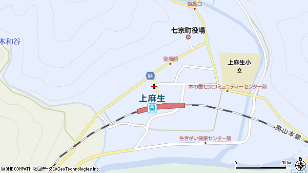 岐阜県加茂郡七宗町上麻生 地図(住所一覧から検索) :マピオン