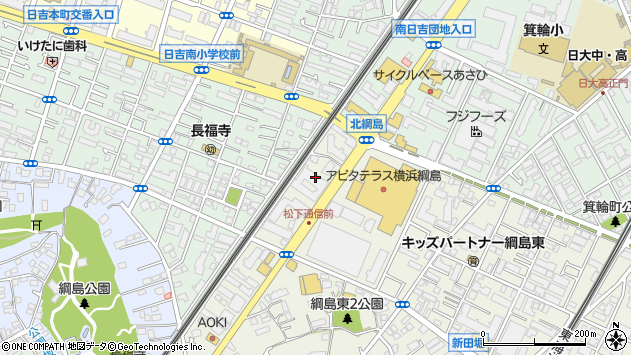 神奈川県横浜市港北区綱島東4丁目1-14 住所一覧から地図を検索