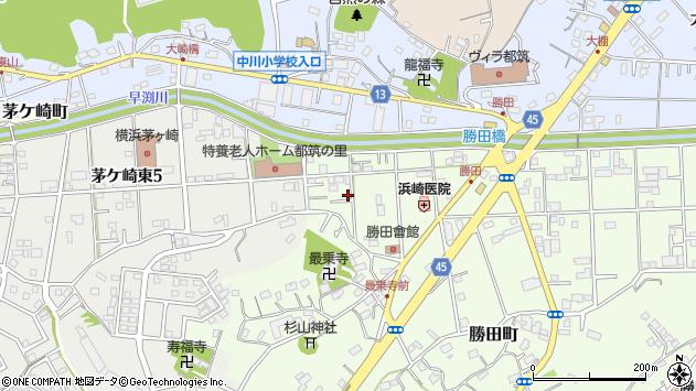神奈川県横浜市都筑区勝田町周辺の地図