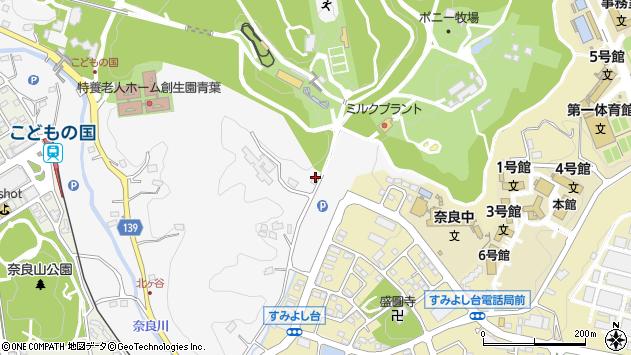 神奈川県横浜市青葉区奈良町733周辺の地図