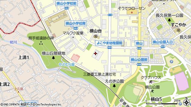 神奈川県相模原市中央区横山台2丁目23-28周辺の地図