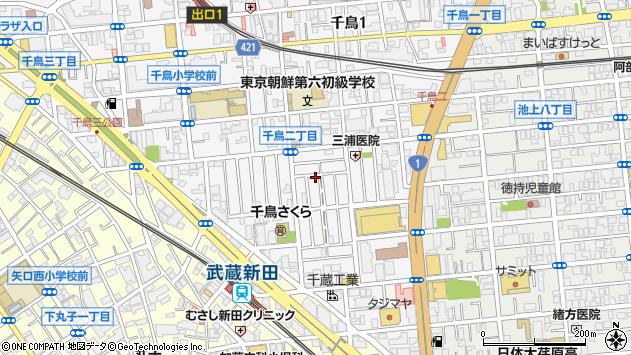 東京都大田区千鳥2丁目周辺の地図