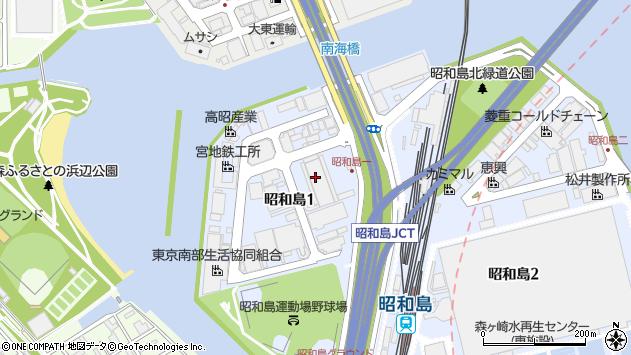 東京都大田区昭和島1丁目6-7周辺の地図