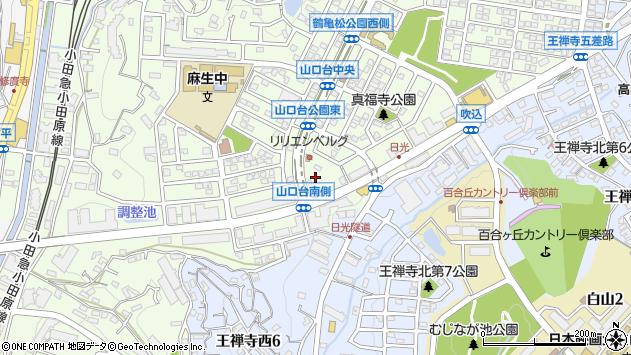 神奈川県川崎市麻生区上麻生4丁目18周辺の地図