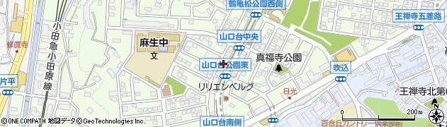 神奈川県川崎市麻生区上麻生4丁目周辺の地図