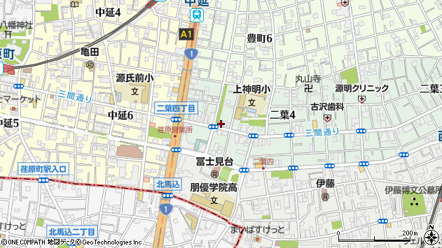 東京都品川区二葉4丁目3-13周辺の地図