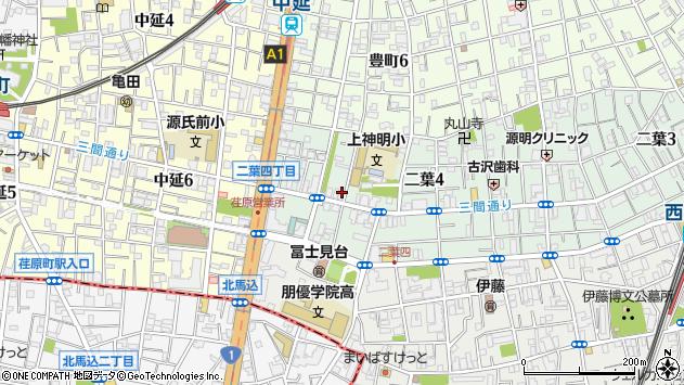 東京都品川区二葉4丁目3-12周辺の地図