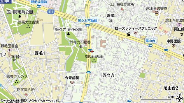 東京都世田谷区等々力1丁目19-9周辺の地図
