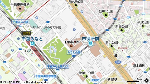 千葉市周辺の地図