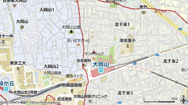 東京都大田区北千束1丁目周辺の地図