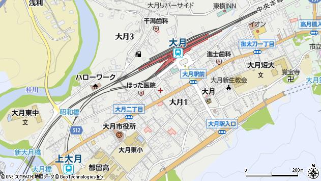 山梨県大月市大月 地図(住所一覧から検索) :マピオン