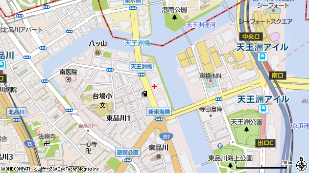 東京都品川区東品川1丁目3周辺の地図