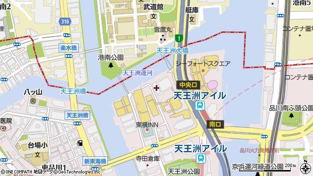 東京都品川区東品川2丁目2-4周辺の地図