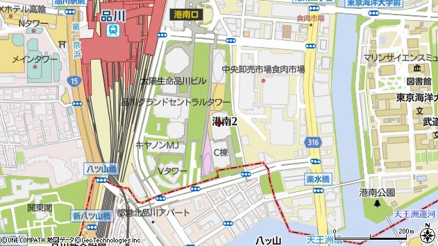 東京都港区港南2丁目15-2周辺の地図
