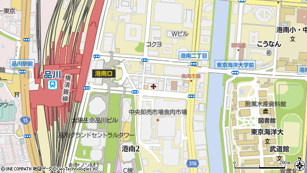 東京都港区港南2丁目5-11周辺の地図