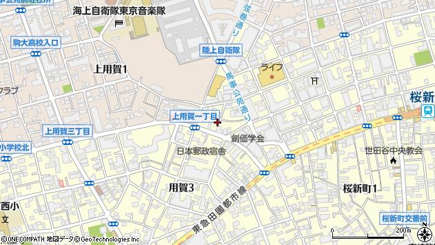 東京都世田谷区用賀3丁目周辺の地図