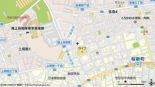 東京都世田谷区桜新町2丁目22周辺の地図