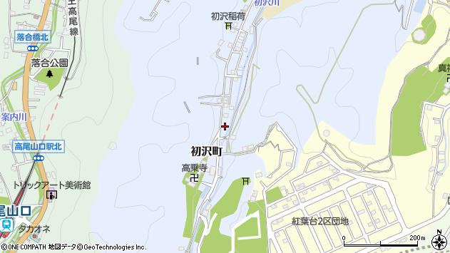 東京都八王子市初沢町1398周辺の地図