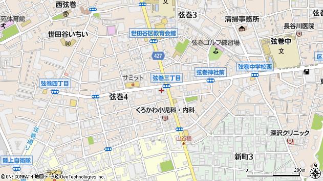 東京都世田谷区弦巻4丁目2-24周辺の地図