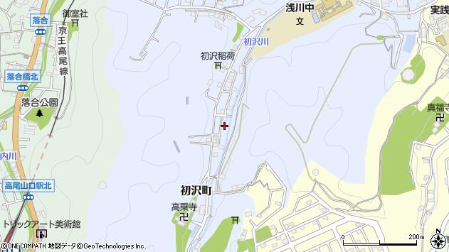 東京都八王子市初沢町1389周辺の地図