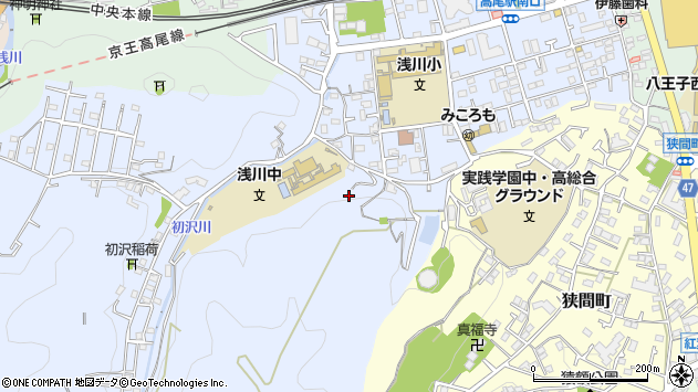 東京都八王子市初沢町1328周辺の地図