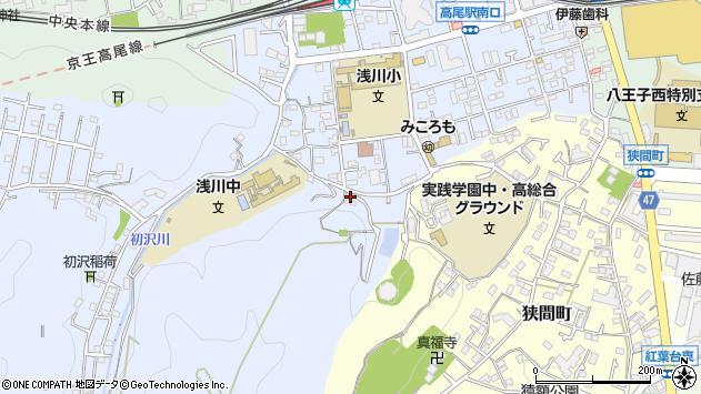 東京都八王子市初沢町1318周辺の地図