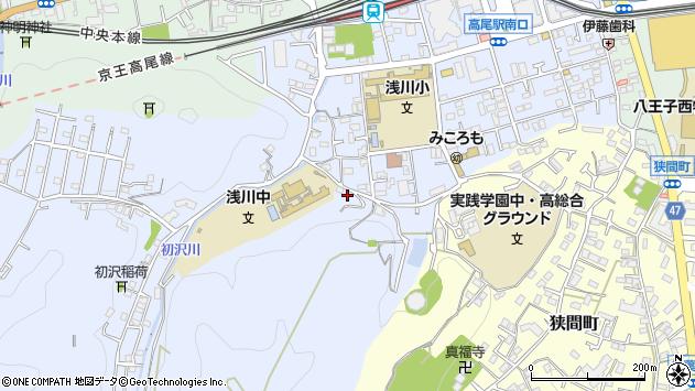 東京都八王子市初沢町1327周辺の地図