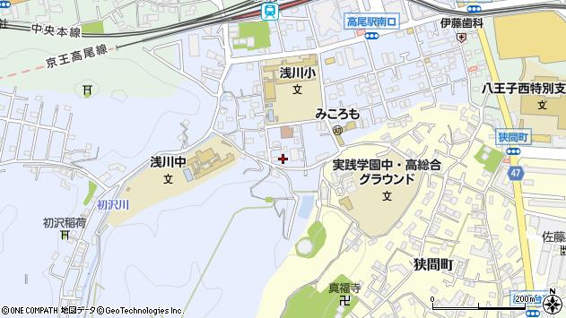 東京都八王子市初沢町1325周辺の地図
