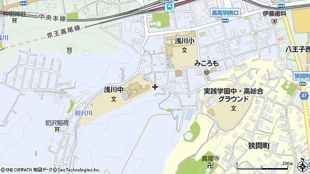 東京都八王子市初沢町1316周辺の地図
