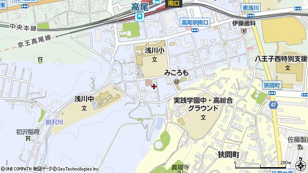 東京都八王子市初沢町1322周辺の地図