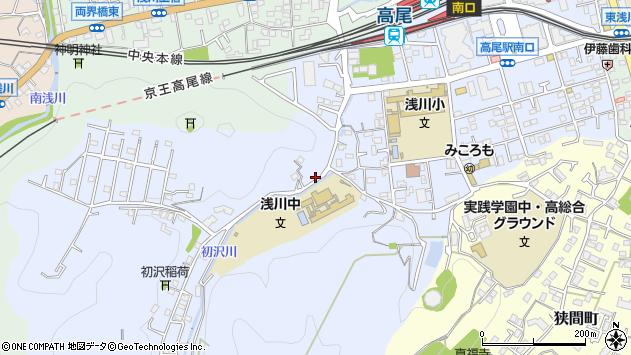 東京都八王子市初沢町1457周辺の地図